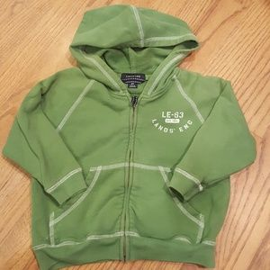 Lands' End Green Hoodie Sweatshirt Size 3T
